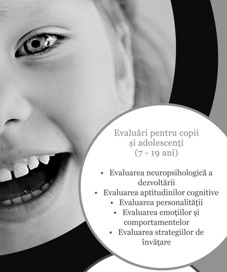 Evaluarea copilului si adolescentului